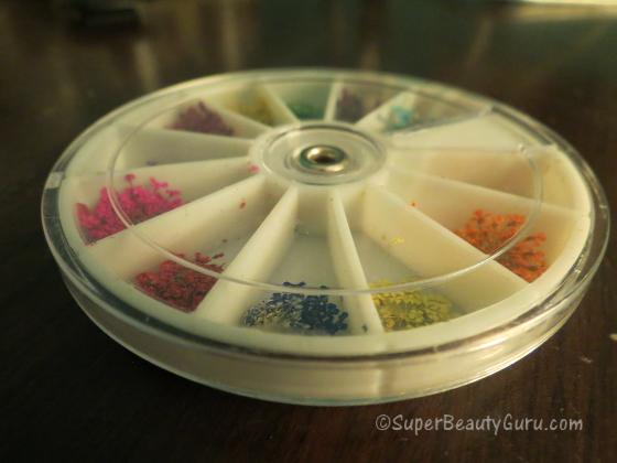 dried flower nail art wheel