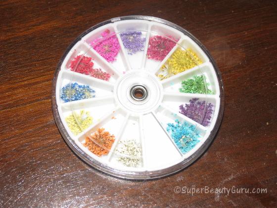 wheel of dried flowers